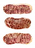 pic of wagyu  - close up of marbled wagyu beef isolated - JPG