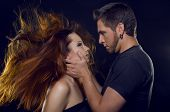 stock photo of enamored  - Couple of lovers - JPG