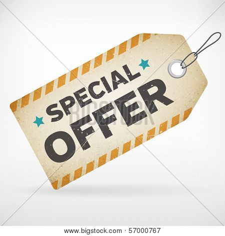 Realistic Paper Special Offer Label
