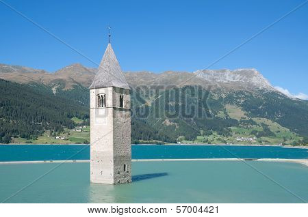 Lake Reschensee,South Tyrol,Italy