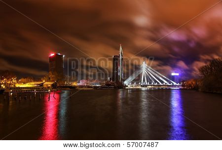Night View At Riga, Latvia