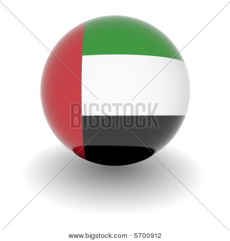 High Resolution Ball With Flag Of The United Arabic Emirates