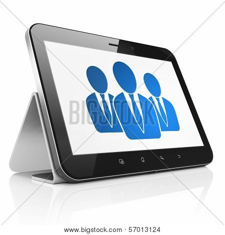 Law concept: Business People on tablet pc computer