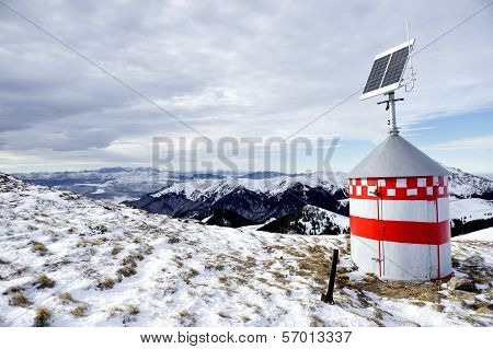 Mountain Refuge With Solar Panel