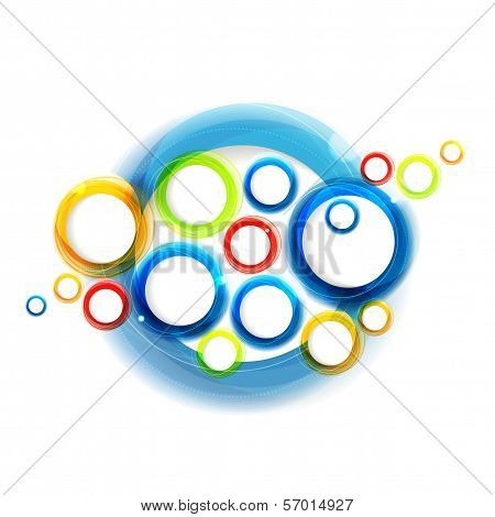 Shiny Colorful Minimalistic Abstract Background With Circles. Eps10