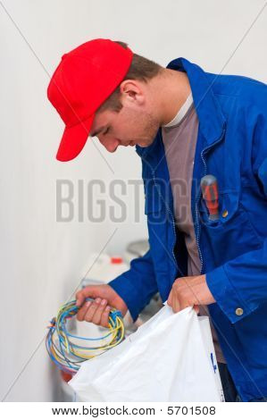 Electrician With Wirings