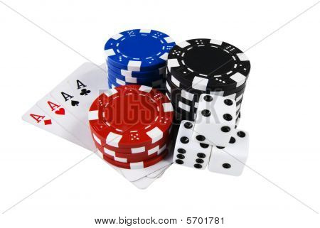 Poker Marks, Chips, Cards & Dices