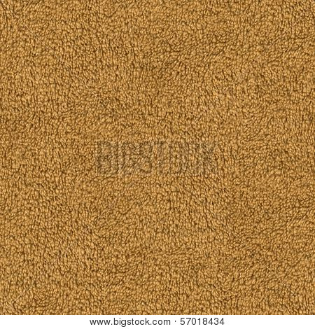 Seamless brown carpet closeup background.