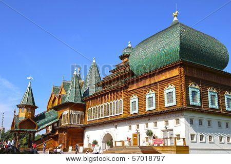 Ancient Wooden Palace Of The Russian Tsar Alexei Mikhailovich in Moscow