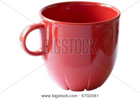 Little Red Tea Cup (clipping Path)