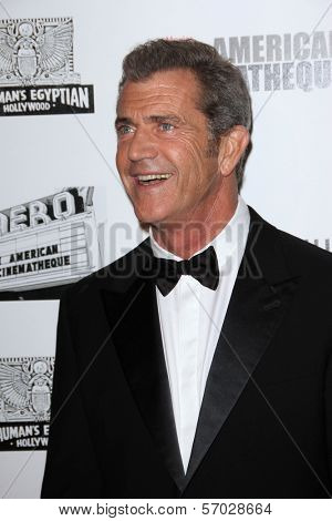Mel Gibson at the American Cinematheque Honors Robert Downey Jr., Beverly Hilton, Beverly Hills, CA 10-14-11