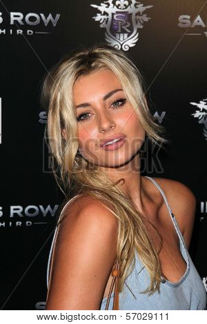 Aly Michalka at the Saints Row: The Third Game Pre-Launch Event, Supperclub, Hollywood, CA. 10-12-11
