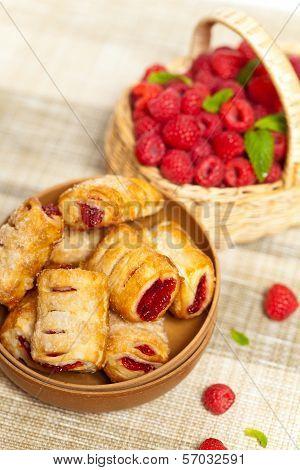 Raspberry Strudel Bites