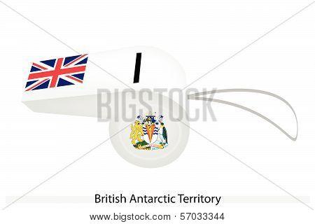 A White Whistle Of British Antarctic Territory