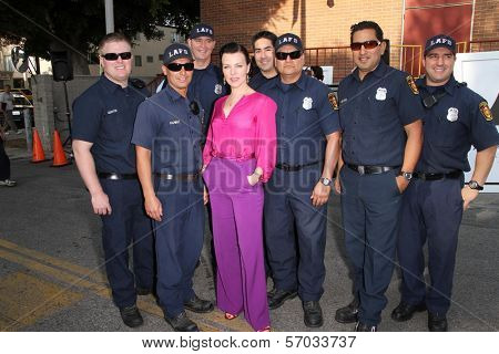 Debi Mazar at the Hollywood Chamber Of Commerce 17th Annual Police And Fire BBQ, Private Location, Hollywood, CA 11-30-11