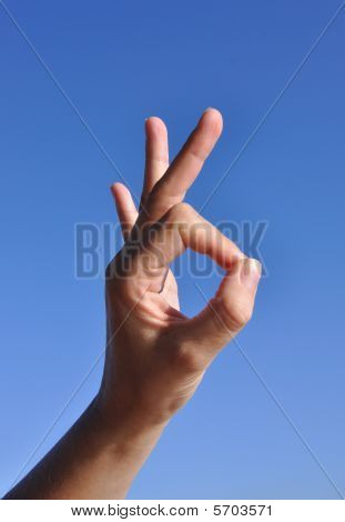 Woman Hand - Ok Sign