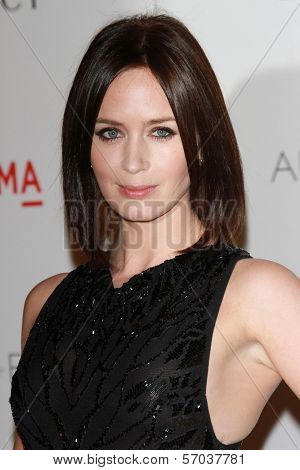 Emily Blunt Chris Evans at the LACMA Art + Film Gala Honoring Clint Eastwood and John Baldessari, LACMA, Los Angeles, CA 11-05-11