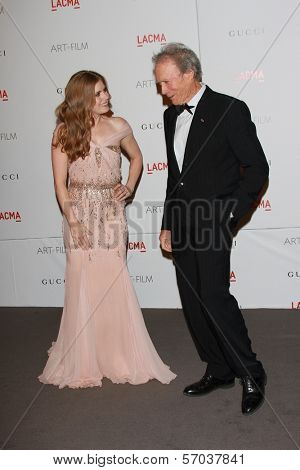 Amy Adams, Clint Eastwood at the LACMA Art + Film Gala Honoring Clint Eastwood and John Baldessari, LACMA, Los Angeles, CA 11-05-11