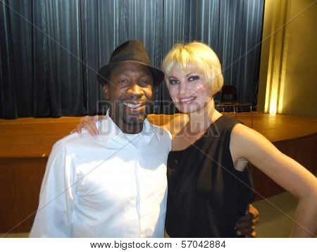 Glenn Plummer, Rena Riffel at a Special Screening of