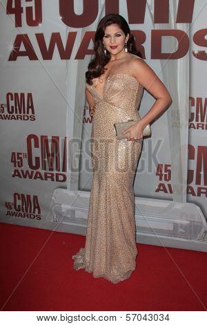 Hillary Scott at the 2011 CMA Awards, Bridgestone Arena, Nashville, TN 11-09-11
