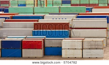Colorful Freight Containers