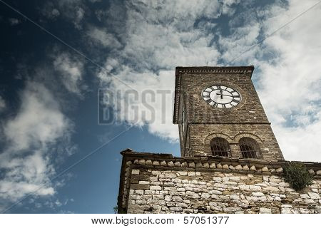 Clock Tower In Gjirokastra, Albania