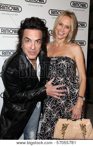 Paul Stanley and wife Erin Sutton at the Rimowa Launch Party, Rimowa, Beverly Hills, CA. 05-16-11
