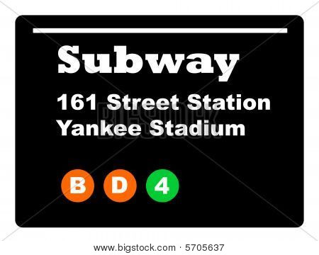 Yankee Stadium Subway Sign