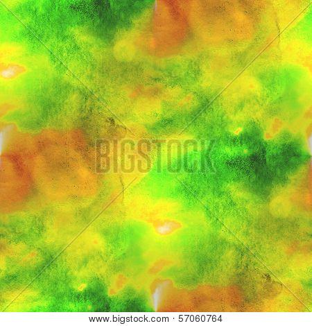art yellow, green avant-garde hand paint background seamless wal