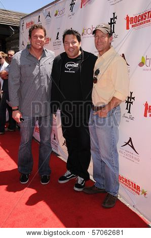 Bob Guiney, James Denton and Greg Grunberg at Teri Hatcher's Red Carpet Yard Sale benefiting St. Jude Children's Research Hospital and Rockstar Education, Tiato Garden, Santa Monica, CA. 05-01-11