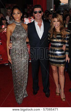 Nicole Scherzinger, Simon Cowell, Paula Abdul at FOX's