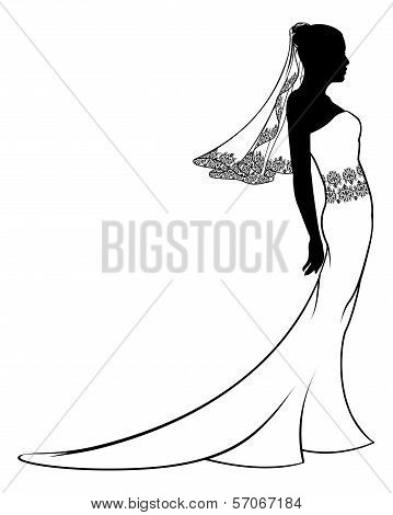 Bride Wedding Dress Silhouette