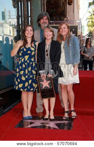Sissy Spacek, husband Jack Fisk, daughters Madison and Schuyler Fisk at Sissy Spacek's induction into the Hollywood Walk of Fame, Hollywood Blvd, Hollywood, CA. 08-01-11