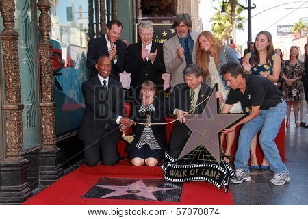 Sissy Spacek, husband Jack Fisk, daughters Madison and Schuyler Fisk, Bill Paxton, David Lynch at Sissy Spacek's induction into the Hollywood Walk of Fame, Hollywood Blvd, Hollywood, CA. 08-01-11