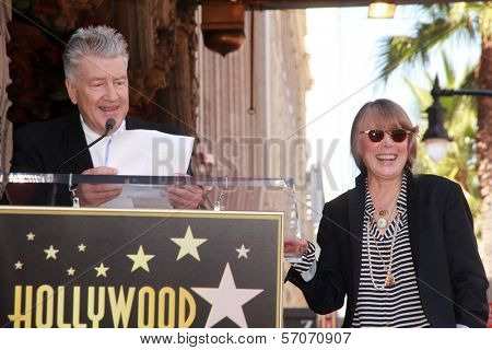 David Lynch, Sissy Spacek at Sissy Spacek's induction into the Hollywood Walk of Fame, Hollywood Blvd, Hollywood, CA. 08-01-11