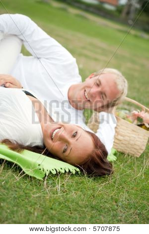 Couple Having A Romantic Picnic
