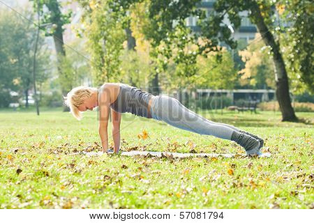 Yoga-Dandasana/Plank pose