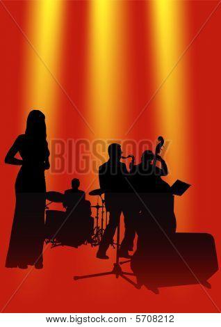 Musical jazz Orchestra