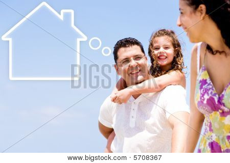 Father Thinking Of New Home