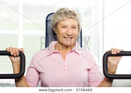 Older Woman Working Out