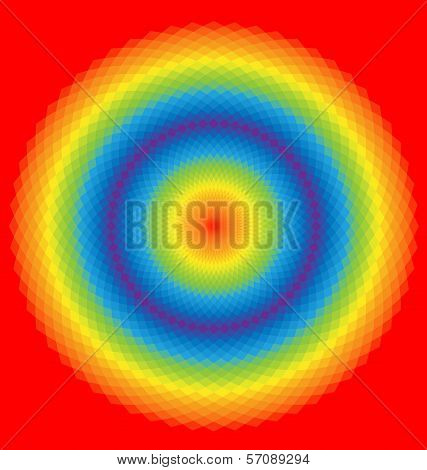 Rainbow Background Of Geometric Shapes. Colorful Mosaic Banner.