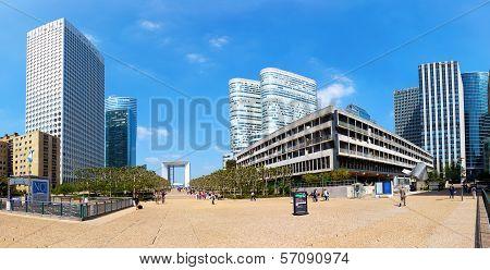 Panoramic View Of La Defense In Paris