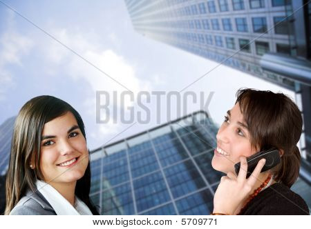 Business Women On The Phone