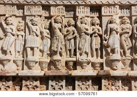 Decorative Carving, Jagdish Temple, Udaipur, India