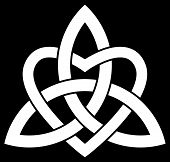 stock photo of triquetra  - Celtic Trinity knot  - JPG