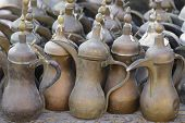 picture of qatar  - An assortment of coffee pots for sale in Souq Waqif - JPG