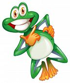 picture of orange frog  - Illustration of a smiling frog on a white background - JPG
