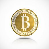stock photo of open-source  - Golden Bitcoin  - JPG