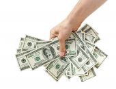 picture of holding money  - businessman holds money in hands - JPG