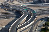 stock photo of emirates  - Highway intersection in Dubai United Arab Emirates - JPG